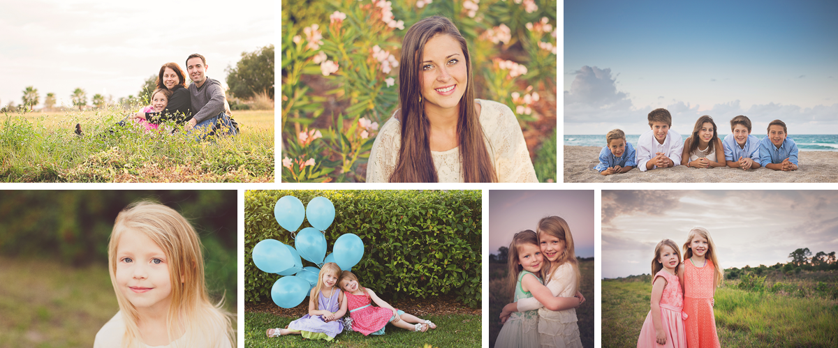 Splash Collage - Stacie McElroy Photography Martin County Family Portrait Photographer